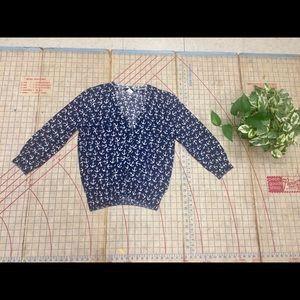 J. Crew Anchor Aweigh cotton cardigan size medium